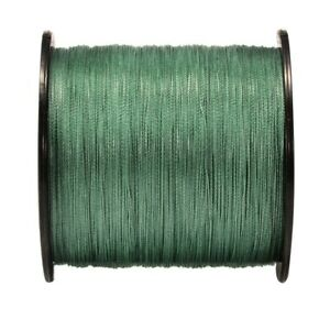 Super Strong 500M Green 100%PE Braided Fishing Line Braided Lines 20 80LB