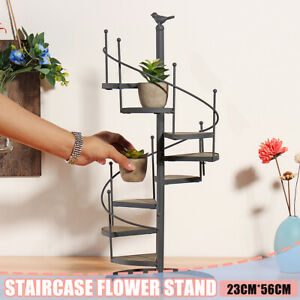 US Spiral Showcase Plant Stand Display Holder Home Outdoor Patio Gard $28.43