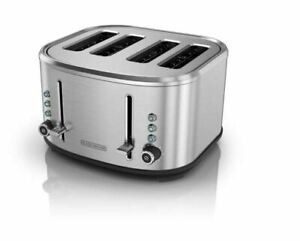 4 Slice Extra Wide Slot Toaster with Crumb Tray 3 Functions 7 Setting Selector $25.99