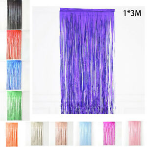 Wall Fringe Curtain Door Room Home decor DIY Shiny Fringe Curtain Useful $9.74