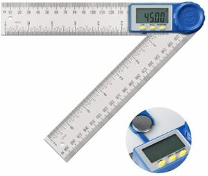 8quot; Electronic Digital Angle Finder Protractor Goniometer LED 360° w Batteries $11.59