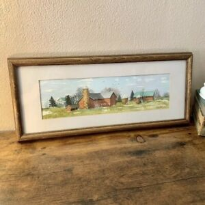 Vintage Framed Original Watercolor Painting By A. Hupke $28.00