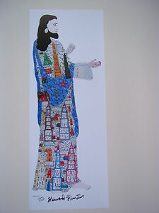 HOWARD FINSTER High quality Lithograph SIGNED NUMBERED Folk Art $35.00