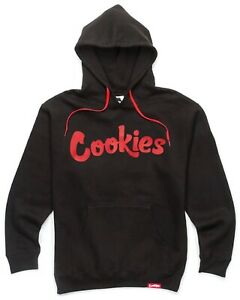 NWT Authentic Berner Cookies Clothing CKS Original Logo Black Red Hoodie $80.00