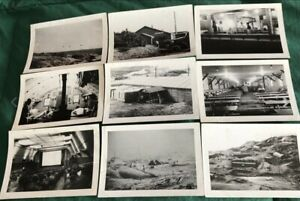 WW2 Original Photographs Army Air Force Military Base Bunkers $19.95
