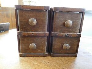 4 Beautiful Antique Treadle Sewing Machine Cabinet Drawers Steampunk use $67.99