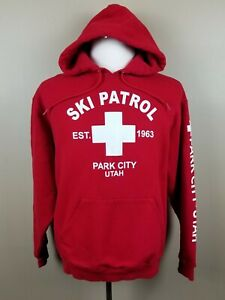 Ski Patrol Park City Utah Red Hoodie Size Large L $14.49