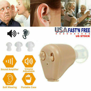 1 PCS Hearing Aids Mini In Ear Rechargeable Adjustable Tone Sound Amplifier US $18.59