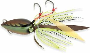 Shimano Lucanus Jig Lures Fishing Tackle Bottom Boat Brown Charteuse 80gr 3oz
