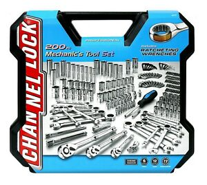 Channel Lock Mechanics Tool Set 200 piece Ratchet Wrenches with Case $117.99