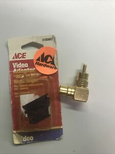 Right Angle RCA Adapter. Gold Plated $5.99