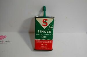 A6 VINTAGE SINGER SEWING MACHINE OIL CAN 4 OZ. $12.20