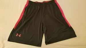 Mens Under Armour Shorts XL Black Athletic Gym Workout $14.96