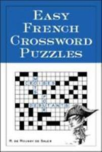 Easy French Crossword Puzzles Language French English and French Edition $1.00