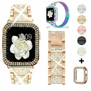 Bling iWatch Strap Case For Apple Watch Band Series 6 5 4 3 2 1 SE 38 40 42 44mm $14.99