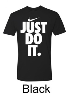 Nike Mens Active Wear Just Do It Swoosh Graphic Gym T Shirt $18.80