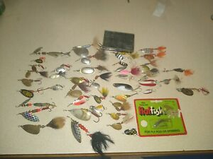 Lot of 42 Mepps Panther Martin Trout Fishing Lures Spinners