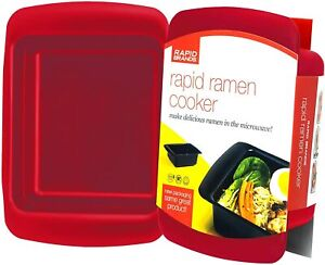 Ramen Cooker Microwave Ramen in 3 Minutes BPA Free and Dishwasher Safe Red $19.95