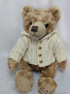 FAO Schwarz Bear Brown Teddy Bear With Cable Knit Sweater $27.99