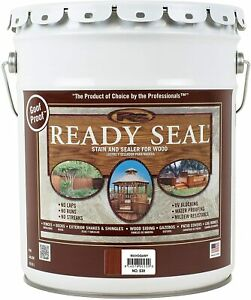 Ready Seal 530 Exterior Stain and Sealer for Wood 5 Gallon Mahogany Goof Proof $135.00