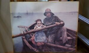 """Vintage Signed Lithograph of Emile Renouf 1881 Painting """"The Helping Hand"""". 6"""" $25.00"""