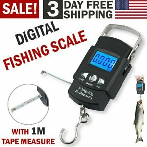 Hand LCD Electronic Digital Scale Travel Fish Luggage Postal Hanging Hook LS006 $8.88