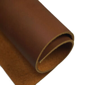 Tooling Leather Square 2.0mm Thick Full Grain Cowhide Leather Craft 5 6OZ Brown $18.05