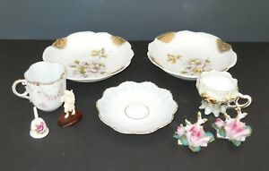 Lot of 9 Antique and Vintage Small and Miniature Porcelain Knick Knacks Unmarked $19.99