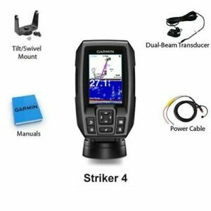 Garmin Striker 4 Fish Finder GPS Combo Depth Finder with Transducer 010 01550 00 $119.99