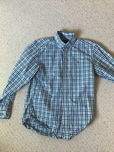 Vineyard Vines Mens Small Button Down Blue And Green $14.99