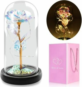 Crystal Colorful Galaxy Flower Rose Gift Led Light Gifts for girlfriend mom wife $29.99