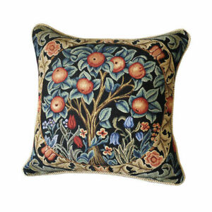 William Morris Orange Tree Tapestry Pillow Cushion Cover Double Sided Vintage $16.99