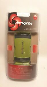 Samsonite Luggage Strap Belt Travel Accessory Neon Green ABS Black Buckle C $12.95