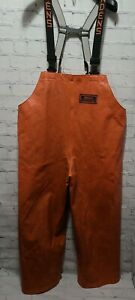 Grundens Herkules Commercial Fishing Bibs Pants Bib Hercules Orange Mens Medium