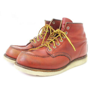 Second Hand Red Wing Redwing Boots Work Irish Setter Mock Toe Leather Brown 9E