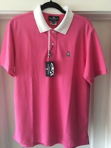 NWT Unique Large Psycho Bunny Men Pink Polo Shirt Tynemouth Size 5 Authentic $58.95