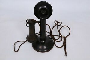 ANTIQUE AMERICAN BELL WESTERN ELECTRIC CANDLESTICK TELEPHONE NO. 323 Nice $199.95