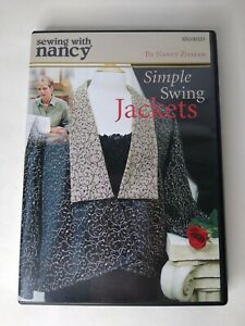Sewing with Nancy Zieman Simple Swing Jackets 2005 DVD Ships FREE $11.88