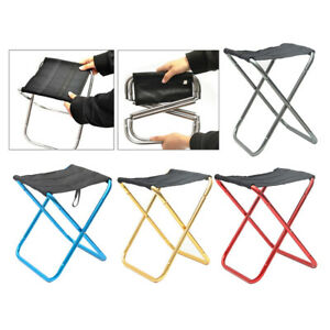 Collapsible Chair Hiking Lawn Picnic Camping Folding Stool Fishing Seats