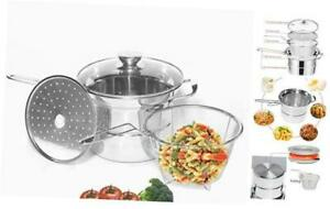 Classic Stainless 4 Pieces Pasta Steamer Set Stainless Steel 2.5 qt. 2.5QT $28.39