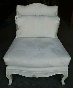 Century Furniture Armless Lounge Chair With Antiqued Distressed Frame $424.99