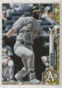 2020 Topps Gold Star Seth Brown #123 Rookie $2.84