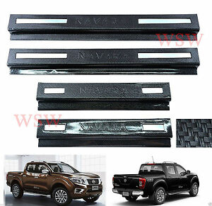 CARBON SCUFF PLATE SILL COVER FOR NISSAN NAVARA NP300 4 DOOR D23 2015 16 $58.99