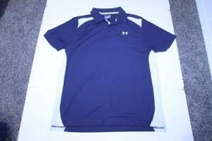 Mens Under Armour XL Polo Collared Dress Shirt Navy Blue Under Armour $19.99