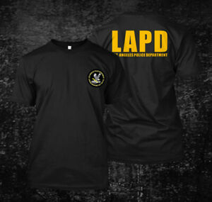 LAPD Los Angeles Police Custom Mens Back and front T Shirt Tee $26.99