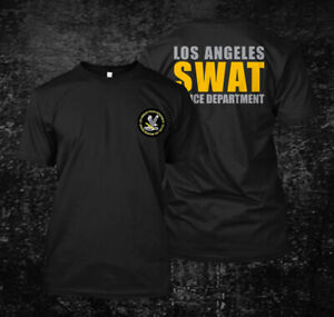 LAPD SWAT Custom Mens Back and front T Shirt Tee $23.99