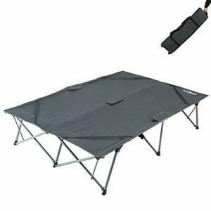 KingCamp Double Folding Camping Cots for 2 People Folding Cot Bed Heavy Duty ...
