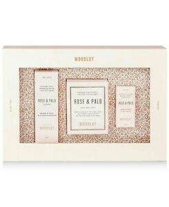 WOODLOT Woodlot 3 Pc. Rose Palo Gift Pink Candle Essential Oil and Mist