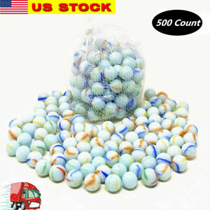 Lot of 500 Glass Marbles 6 lb Glass 5 8quot; 16mm Bulk Wholesale Toy Sling Shot Ammo