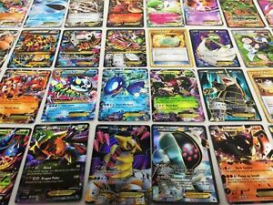 Pokemon Card Lot 100 OFFICIAL TCG Cards Ultra Rare Included GX EX or Mega EX $14.99